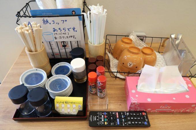 糸満市場いとま〜る「麺や金太郎」にある子供用の食器など