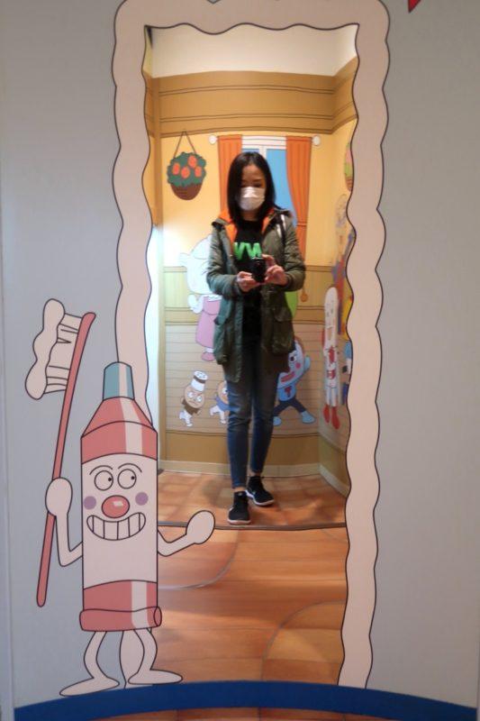 「仙台アンパンマンこどもミュージアム」細見えする鏡