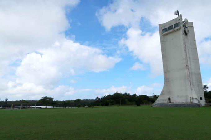 沖縄県うるま市「倉敷ダム」のトゥーミダイ(展望台)と広場