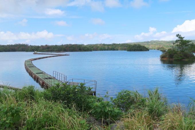 沖縄県うるま市「倉敷ダム」の様子