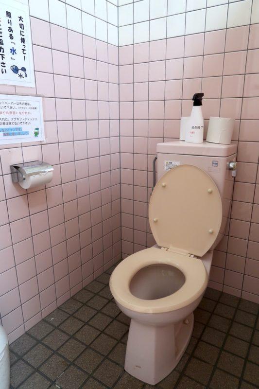沖縄県東村「つつじエコパーク」キャンプ場のトイレ