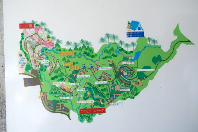 沖縄県東村「つつじエコパーク」全体の案内図
