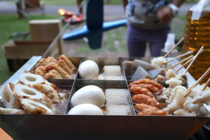 沖縄県東村「つつじエコパーク」でいただくキャンプ飯(おでん)
