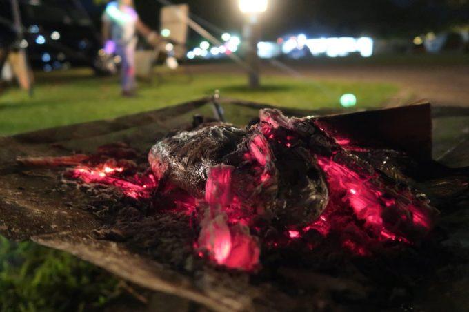 沖縄県東村「つつじエコパーク」で焚き火で焼き芋を作ってみた