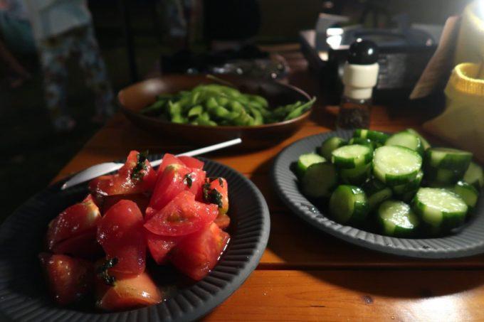 沖縄県東村「つつじエコパーク」キャンプ場で食べたキャンプ飯(地元の野菜を食べる)