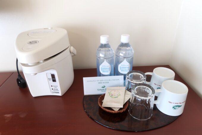 沖縄の老舗「カヌチャリゾート」オーキッド棟の無料でいただけるお水など