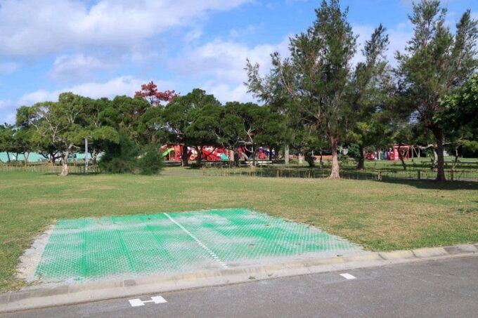 沖縄県総合運動公園キャンプ場で初めて利用したサイト