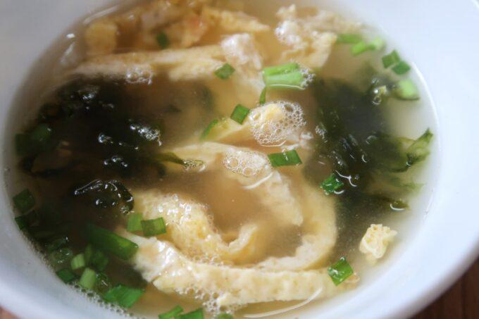 本部町「食堂 海邦」定食についてきたスープ