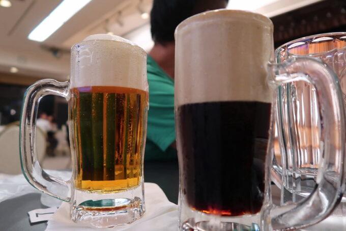 那覇市泉崎「沖縄ハーバービューホテル」ビアガーデンのシメはドライブラックと75ビール