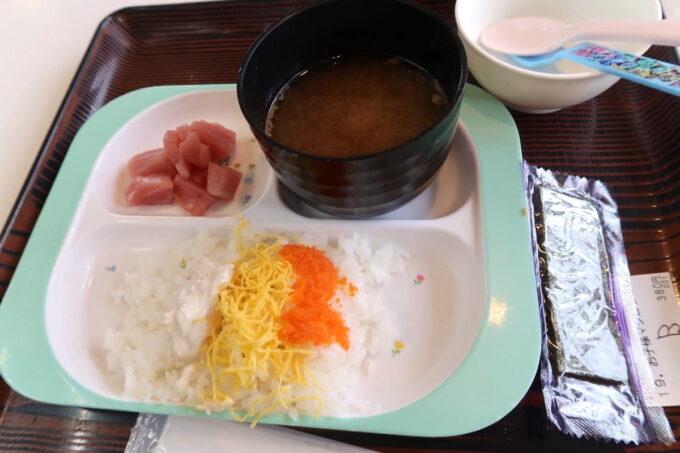 西原町「漁師食堂 大ばんぶる舞」お子様ちらし(380円)