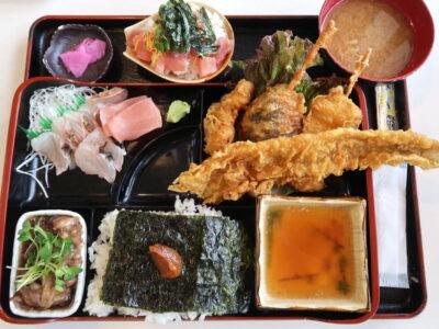 西原町「漁師食堂 大ばんぶる舞」本日の幕の内定食(1180円)