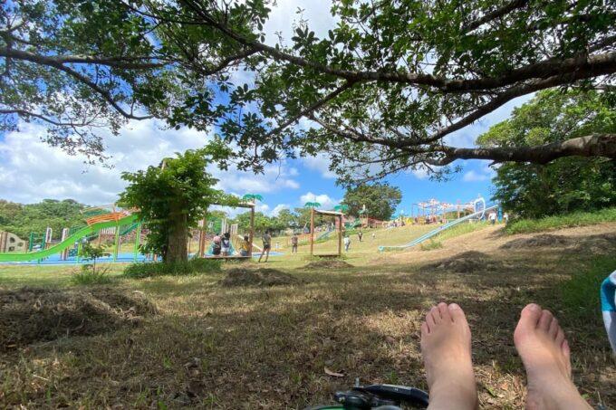 南城市「グスクロード公園」木陰で休憩できる