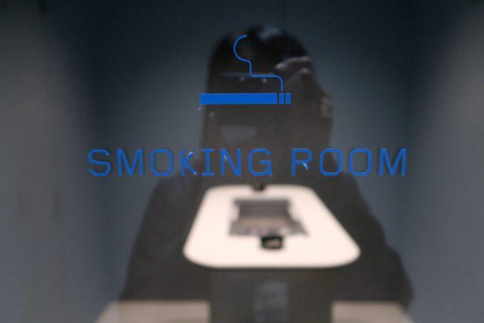 那覇市前島「ホテルアンテルーム那覇」2階の喫煙ルーム