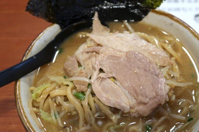 南風原町「麺道くろとん」魚介G麺MAXの豚がおいしい