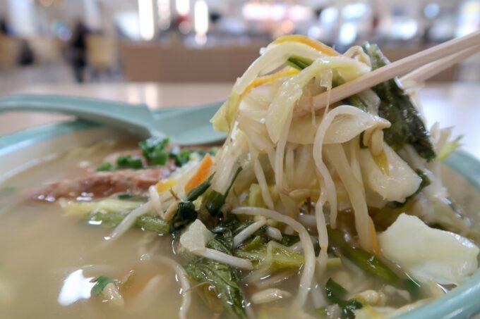 石垣空港「八重山そば やいま村」トッピングした野菜