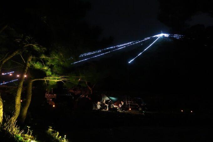 沖縄・本部町「KARST CAMP SITE(カルストキャンプサイト)」フリーサイト側からブッシュクラフトエリアを眺める