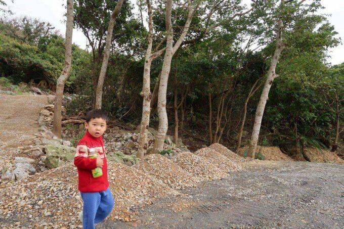 沖縄・本部町「KARST CAMP SITE(カルストキャンプサイト)」お子サマーと一緒に探検に出かけた