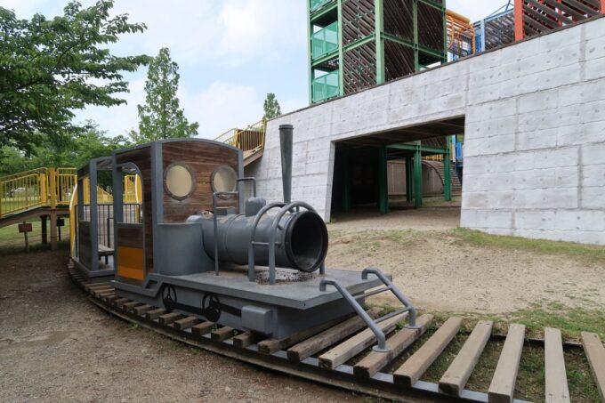 愛媛県松山市「松山総合公園」の坊ちゃん夢ランドの機関車型遊具