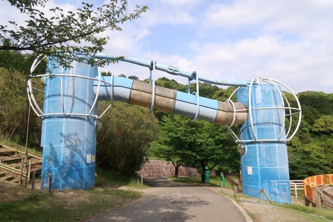 愛媛県松山市「松山総合公園」の坊ちゃん夢ランドのアスレチック