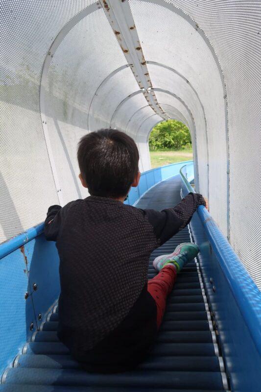 愛媛県松山市「松山総合公園」の坊ちゃん夢ランドのローラースライダー
