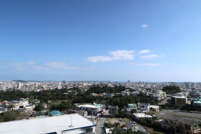 沖縄市「八重島公園」展望台からの眺め