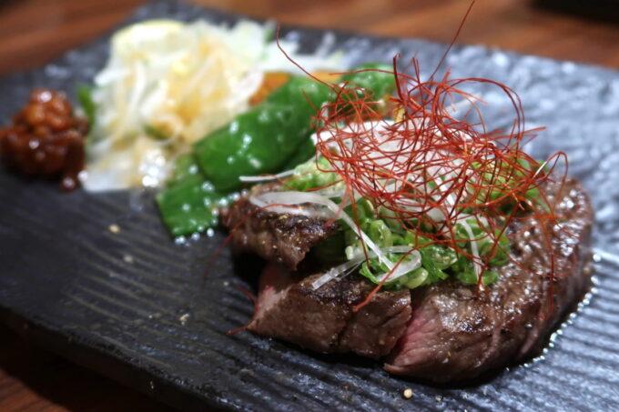 松山市「郷土料理 五志喜」伊予和牛の炙り(2100円)
