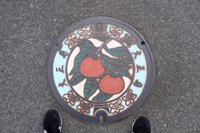 愛媛県今治市大三島「大三島ブリュワリー」の付近を歩いてて見つけた大三島のマンホール
