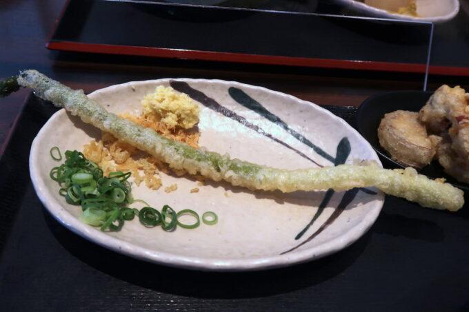 「はやし家製麺所 高松空港店」アスパラ(160円)