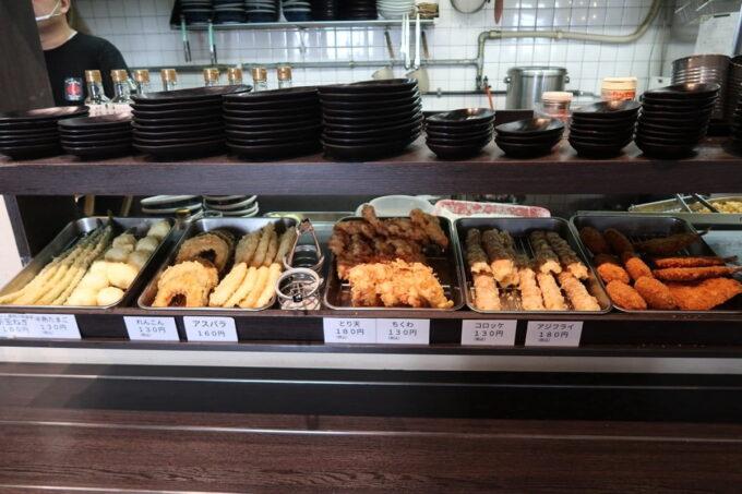 「はやし家製麺所 高松空港店」セルフの天ぷら