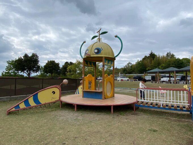 まんのう町「かりんの丘公園」幼児向けの優しめアスレチック