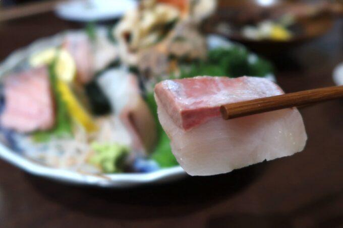 高松市「さかな屋さんの居酒屋 北島商店酒場」刺身のカットが分厚い!