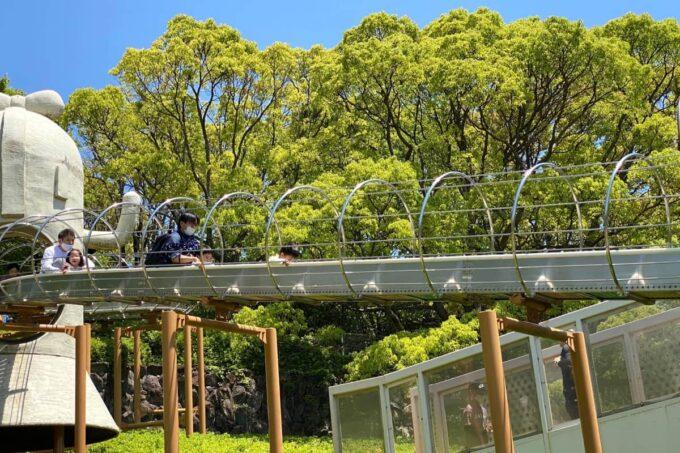 高松市「峰山公園」はにわっ子広場のローラー滑り台が大人気だった