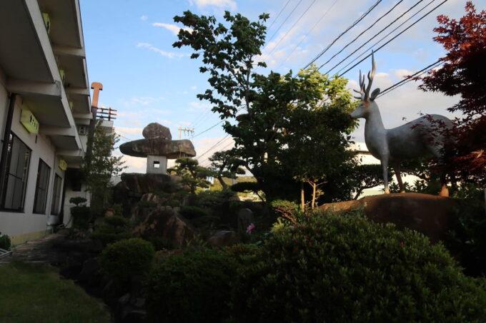 今治・大三島「旅館さわき」の日本庭園