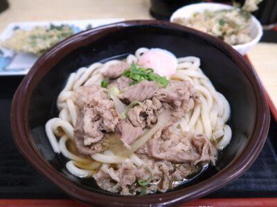 高松市「うどん市場 兵庫町店」肉玉ぶっかけ(中、710円)