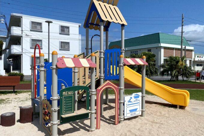 沖縄市「若夏公園」乳幼児用のコンビネーション遊具
