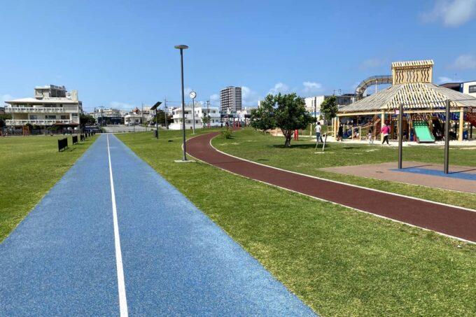 沖縄市「若夏公園」ウォーキング・ランニング用のコースもあった