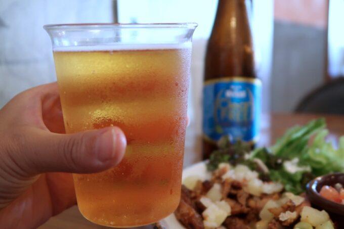 宜野湾「PIPELINE COFFEE(パイプラインコーヒー)」ランチドリンクは、+100円でノンアルコールビールにチェンジできた