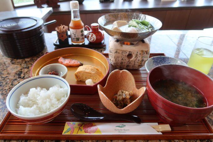 カヌチャリゾート「和食レストラン 神着(かぬちゃ)」の和御膳(2420円)