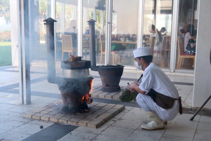 カヌチャリゾート「和食レストラン 神着(かぬちゃ)」薪で炊く釜炊きごはん