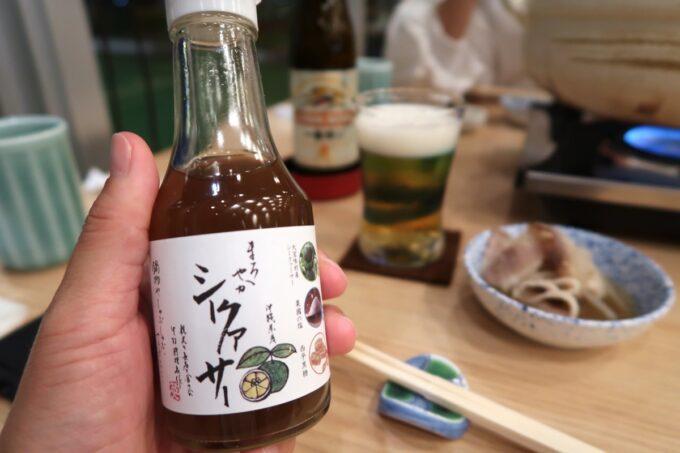 カヌチャリゾート「和食レストラン 神着(かぬちゃ)」タレにシークヮーサーポン酢を使ってもおいしい