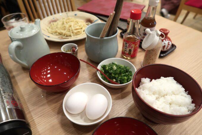 カヌチャリゾート「和食レストラン 神着(かぬちゃ)」シメの炭水化物の準備
