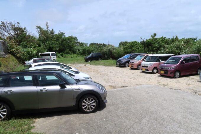 北中城村「ニュー・キタナカ」の駐車場