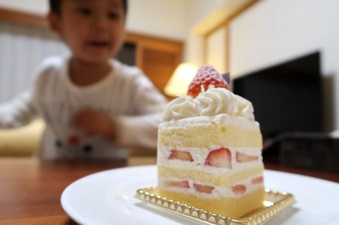沖縄の老舗「カヌチャリゾート」のルームサービス、本日のデザート(600円)